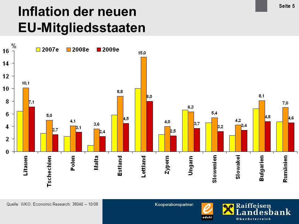 Inflation der neuen EU-Mitgliedsstaaten