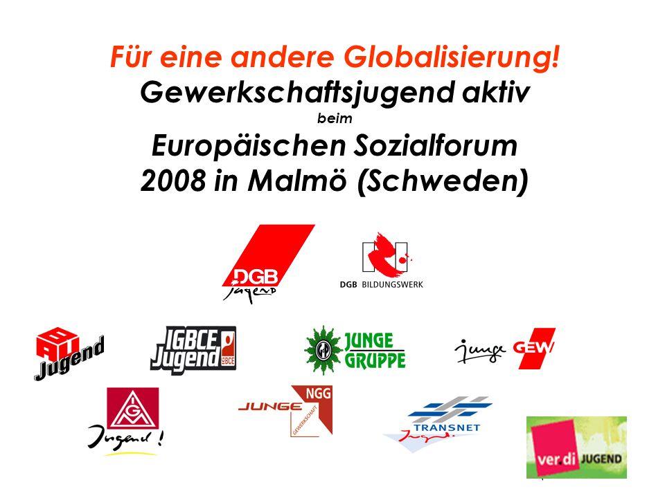 Für eine andere Globalisierung! Gewerkschaftsjugend aktiv