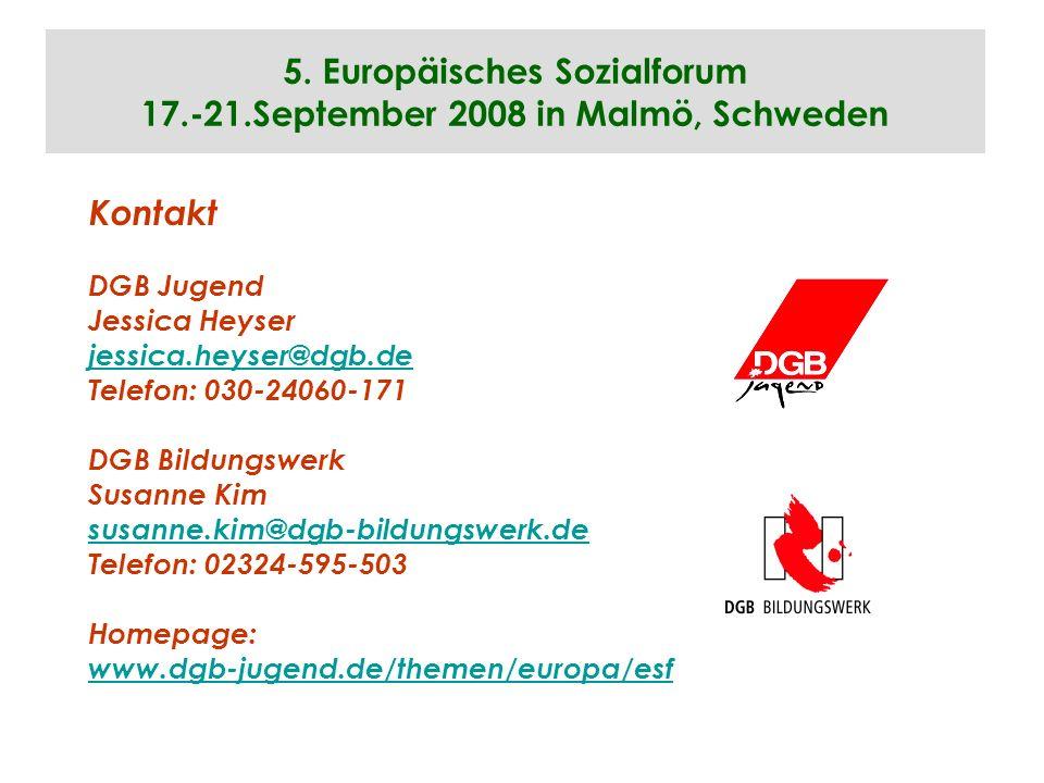5. Europäisches Sozialforum 17.-21.September 2008 in Malmö, Schweden