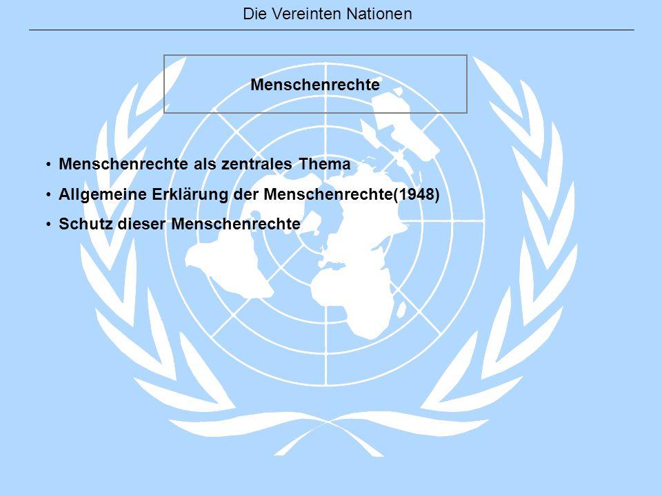 Menschenrechte Menschenrechte als zentrales Thema.