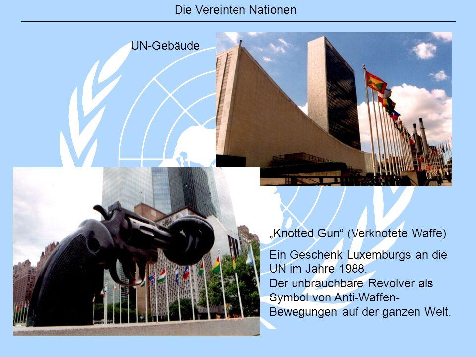 """UN-Gebäude """"Knotted Gun (Verknotete Waffe)"""