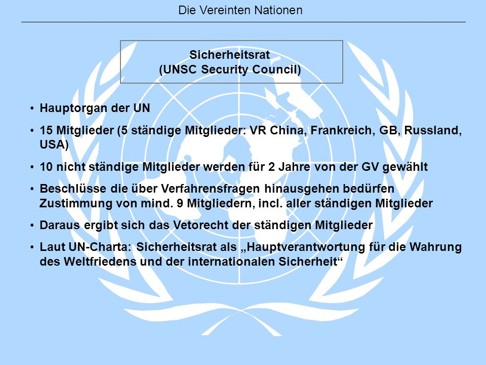 (UNSC Security Council)