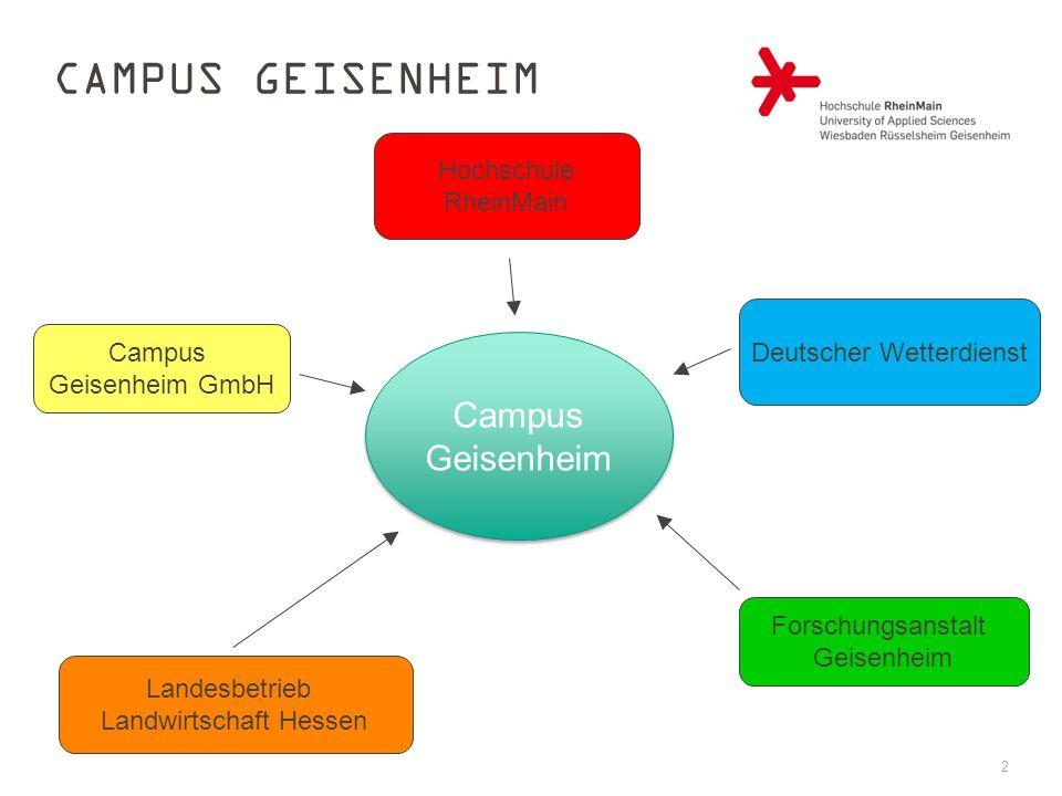 Campus Geisenheim Campus Geisenheim Hochschule RheinMain