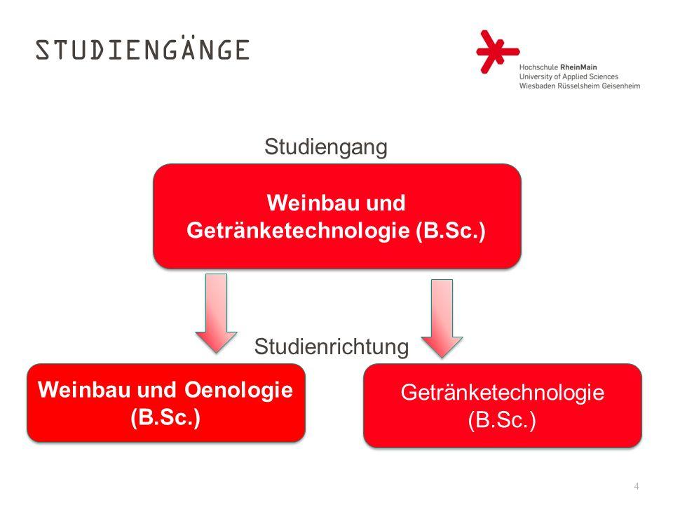 Weinbau und Getränketechnologie (B.Sc.) Weinbau und Oenologie (B.Sc.)