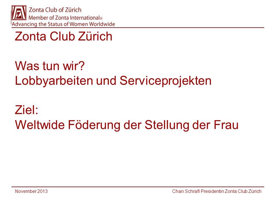November 2013 Chan Schrafl Presidentin Zonta Club Zürich