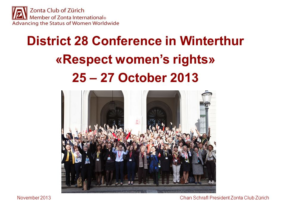 District 28 Conference in Winterthur «Respect women's rights»