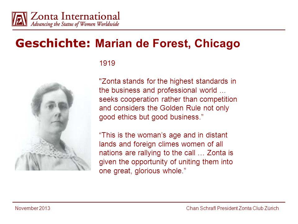 Geschichte: Marian de Forest, Chicago