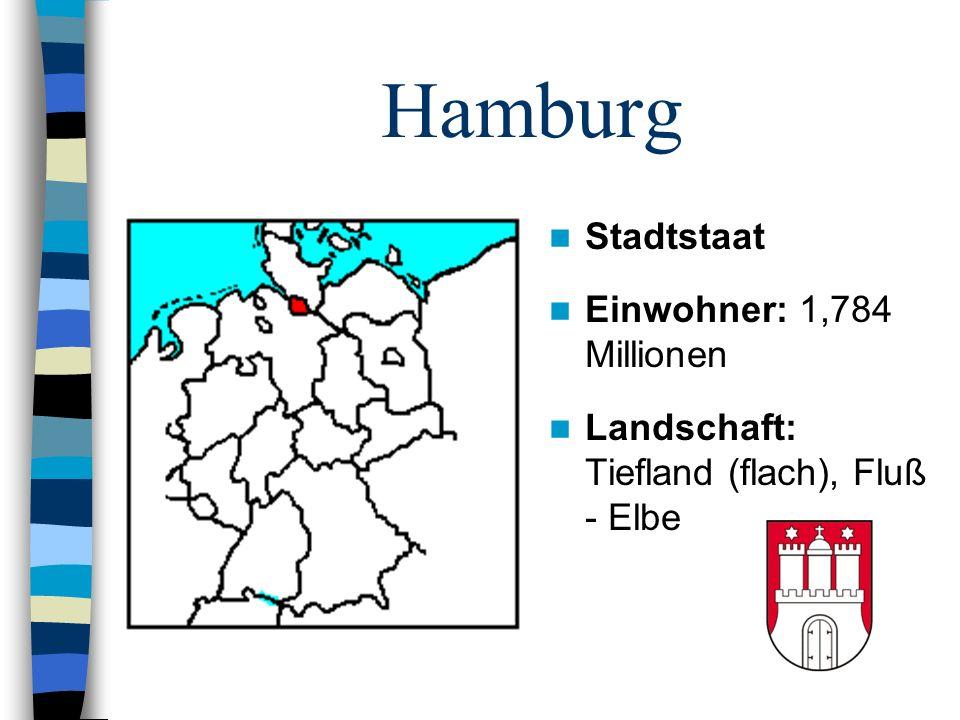 Hamburg Stadtstaat Einwohner: 1,784 Millionen