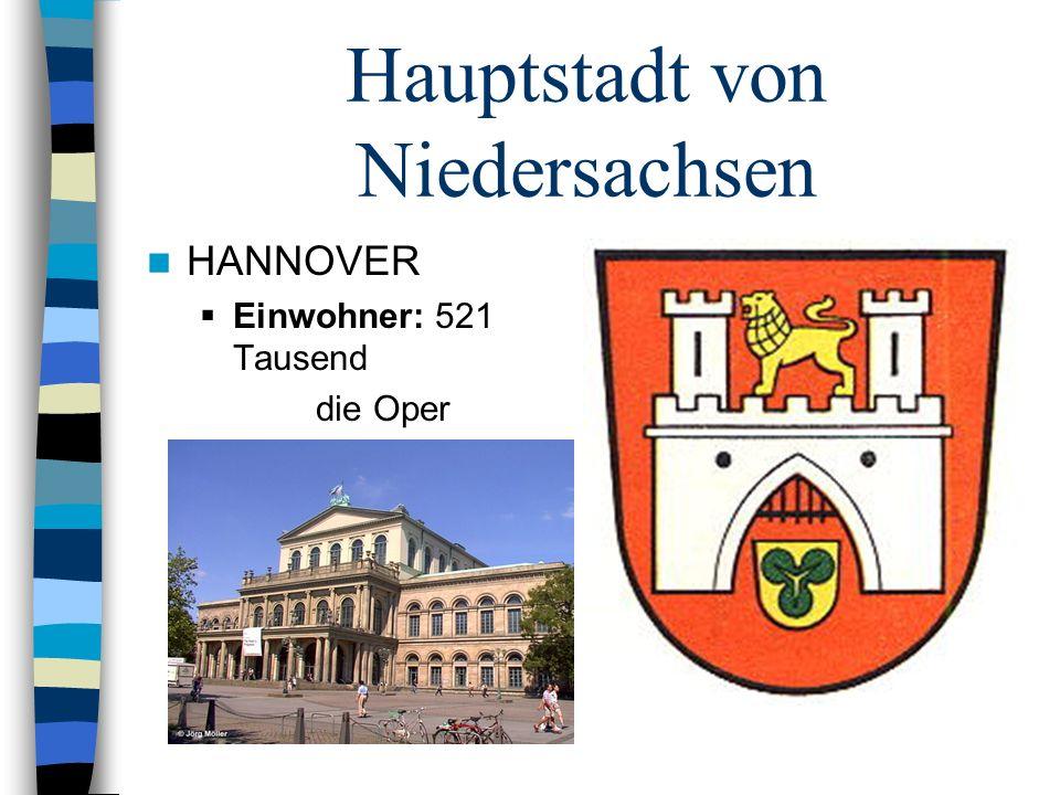Hauptstadt von Niedersachsen