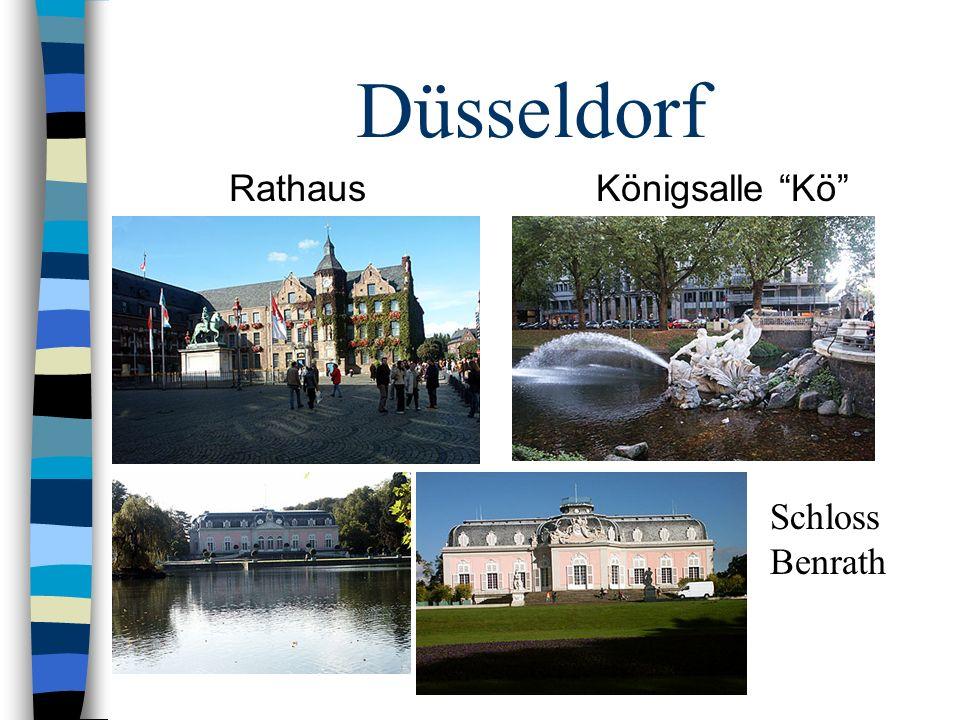 Düsseldorf Rathaus Königsalle Kö Schloss Benrath