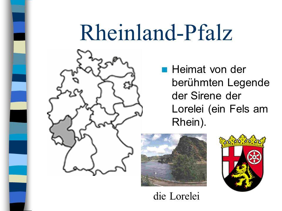 Rheinland-Pfalz Heimat von der berühmten Legende der Sirene der Lorelei (ein Fels am Rhein).