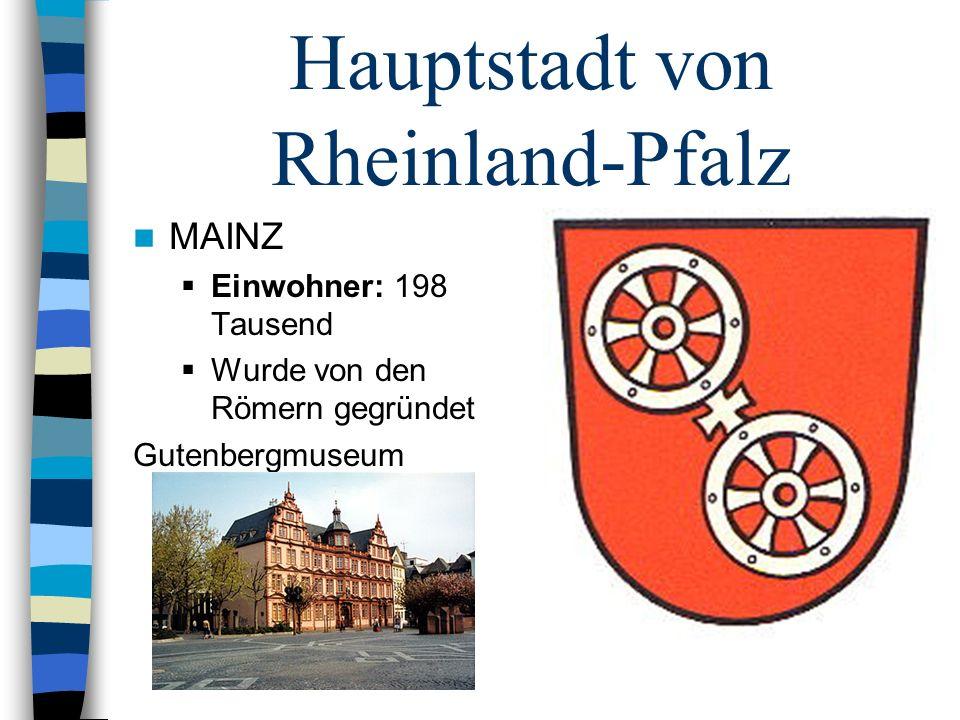 Hauptstadt von Rheinland-Pfalz