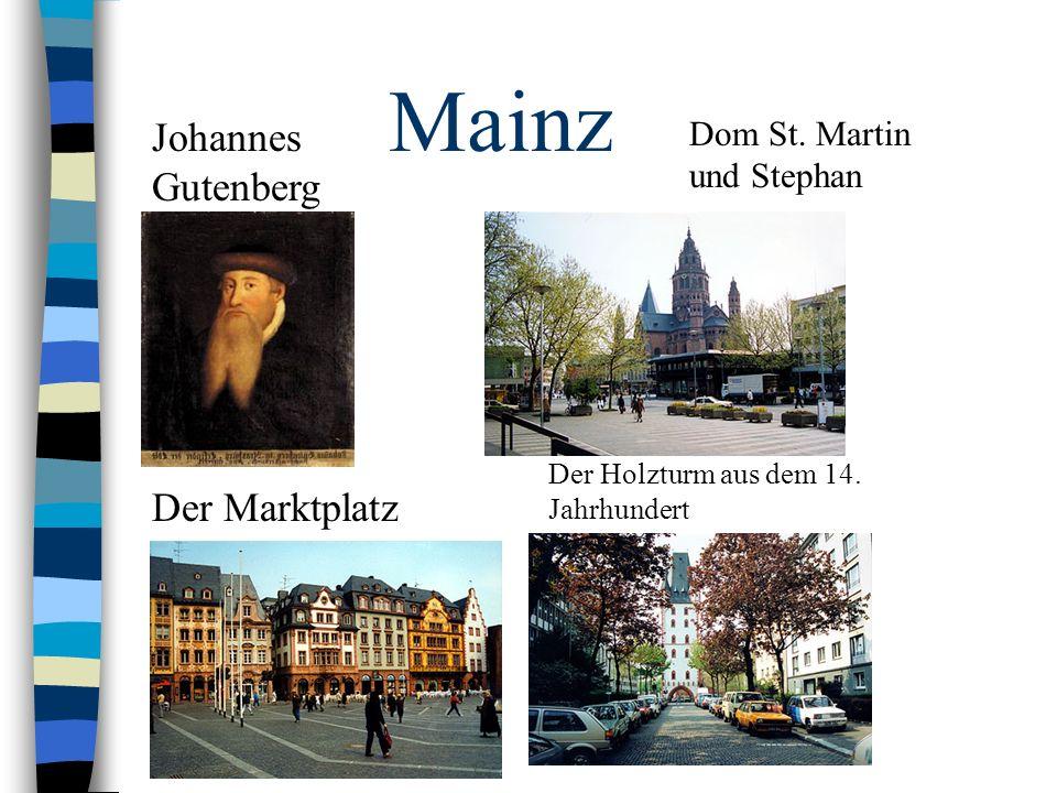 Mainz Johannes Gutenberg Der Marktplatz Dom St. Martin und Stephan
