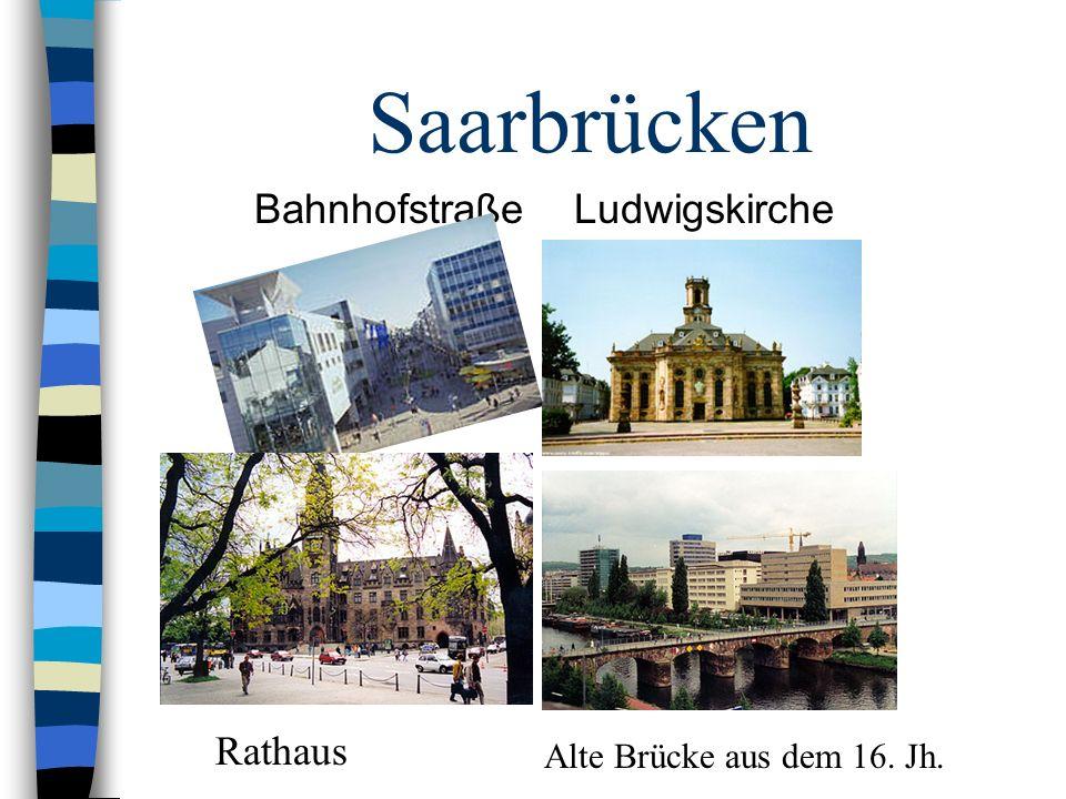 Saarbrücken Bahnhofstraße Ludwigskirche Rathaus