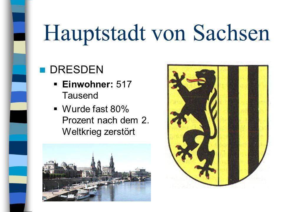 Hauptstadt von Sachsen