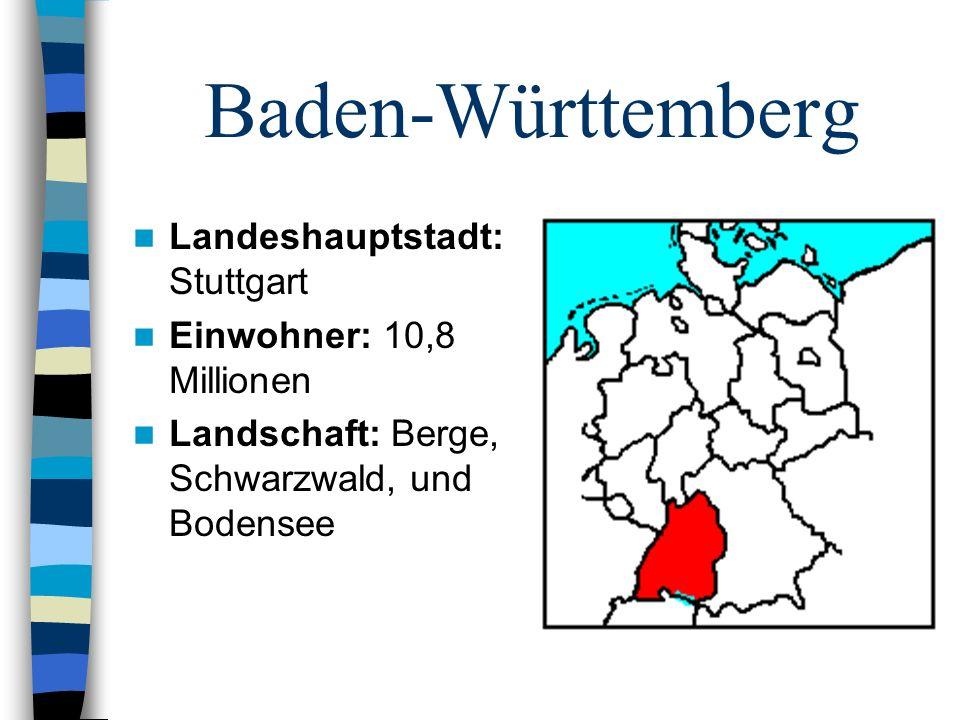Baden-Württemberg Landeshauptstadt: Stuttgart