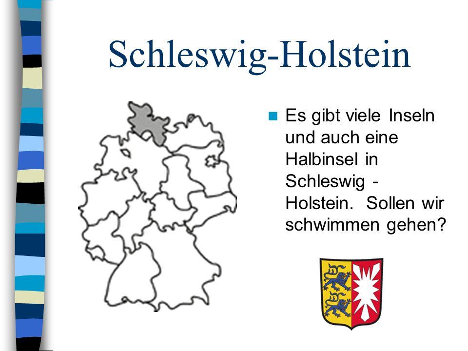Schleswig-Holstein Es gibt viele Inseln und auch eine Halbinsel in Schleswig - Holstein.