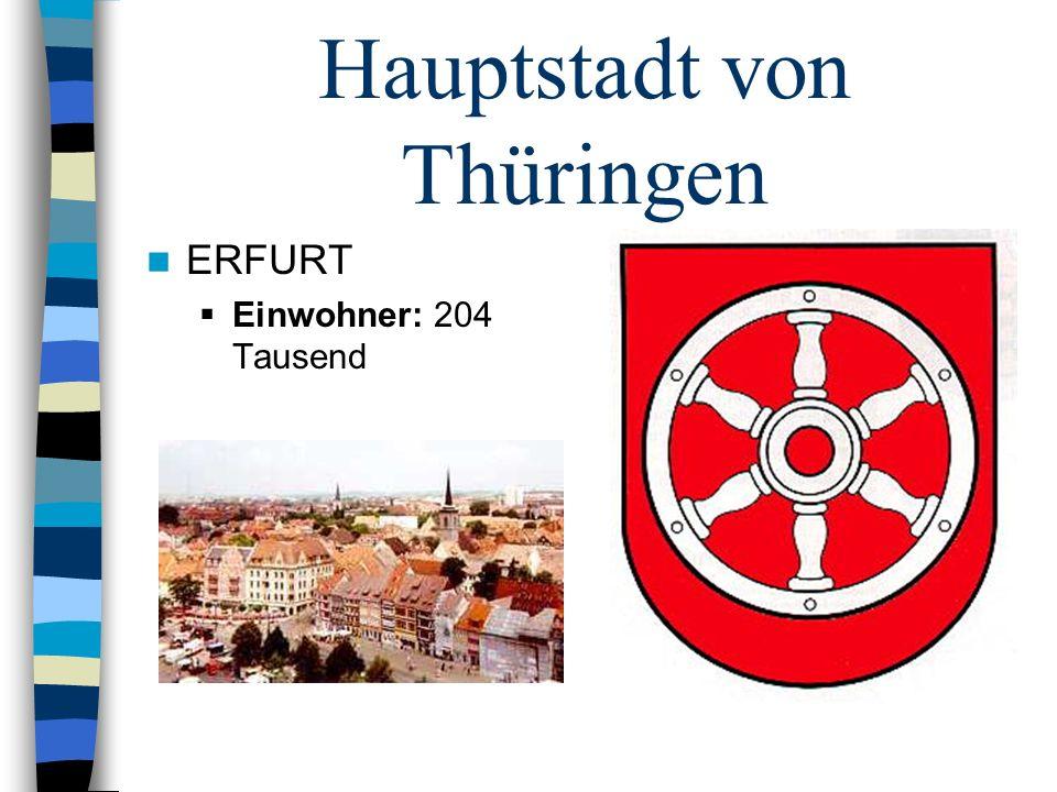 Hauptstadt von Thüringen