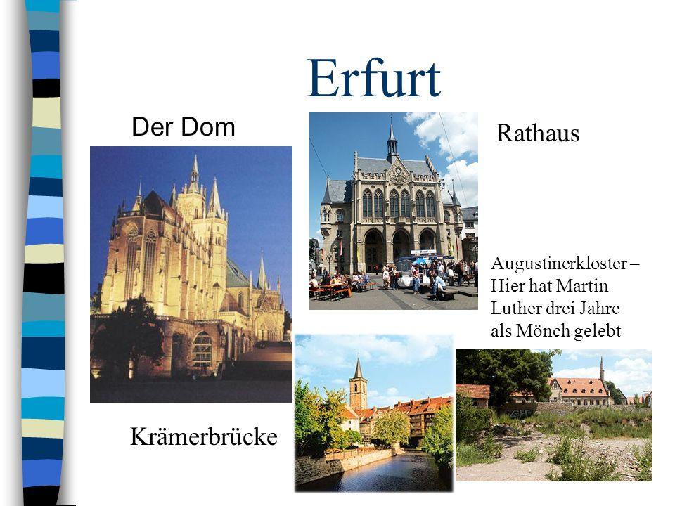 Erfurt Der Dom Rathaus Krämerbrücke