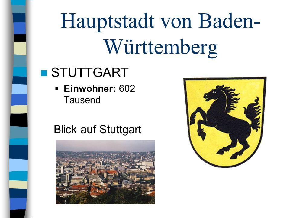 Hauptstadt von Baden-Württemberg