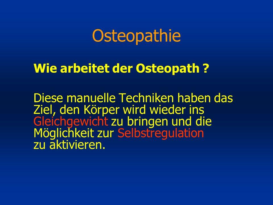 Osteopathie Wie arbeitet der Osteopath