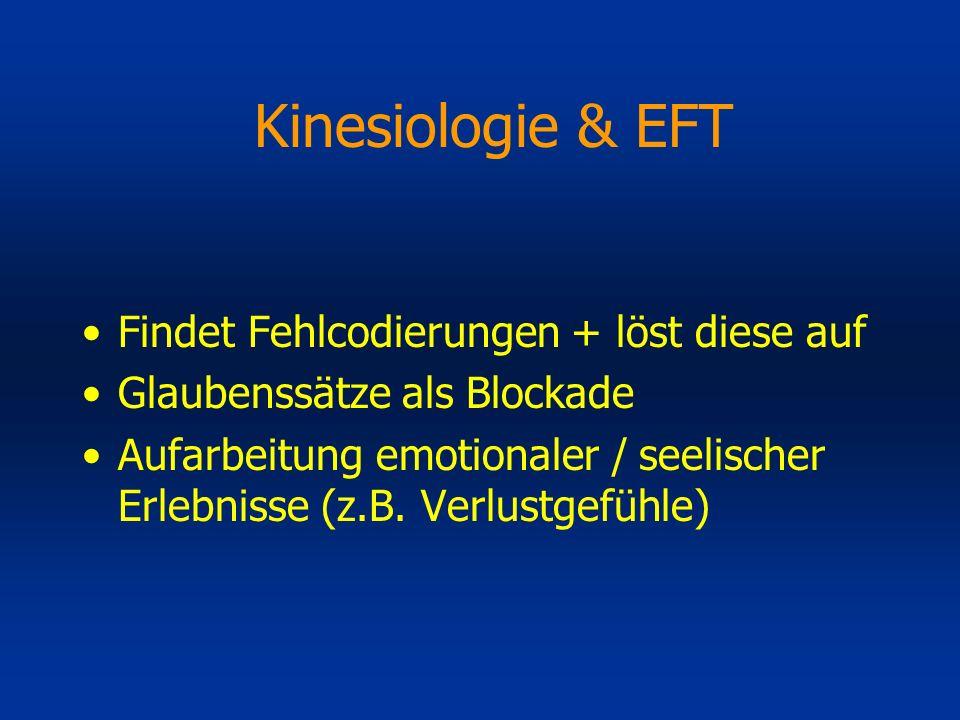 Kinesiologie & EFT Findet Fehlcodierungen + löst diese auf
