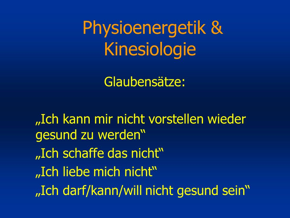 Physioenergetik & Kinesiologie