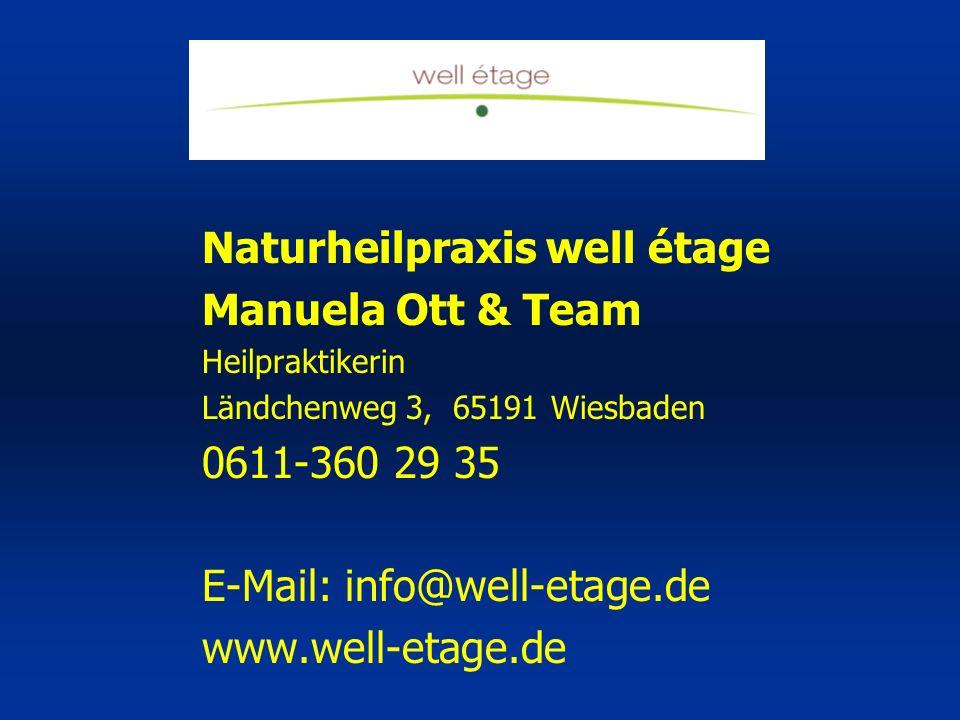 Naturheilpraxis well étage Manuela Ott & Team
