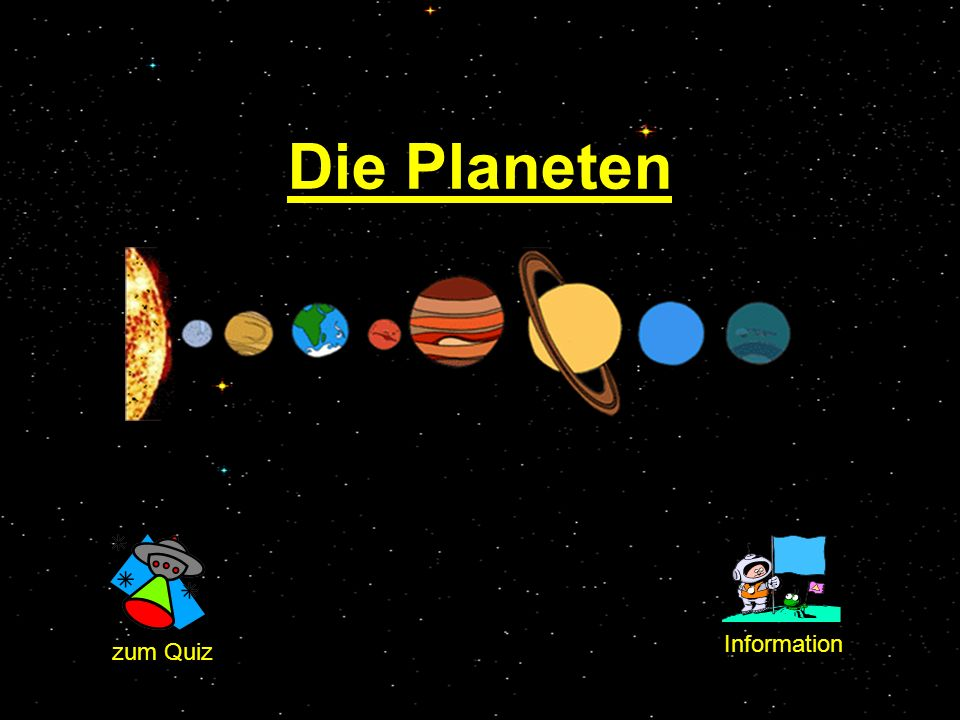 Die Planeten Information zum Quiz