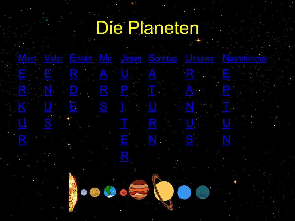 Die Planeten E R K U N S D A P I T Mein Vater Erklärt Mir Jeden