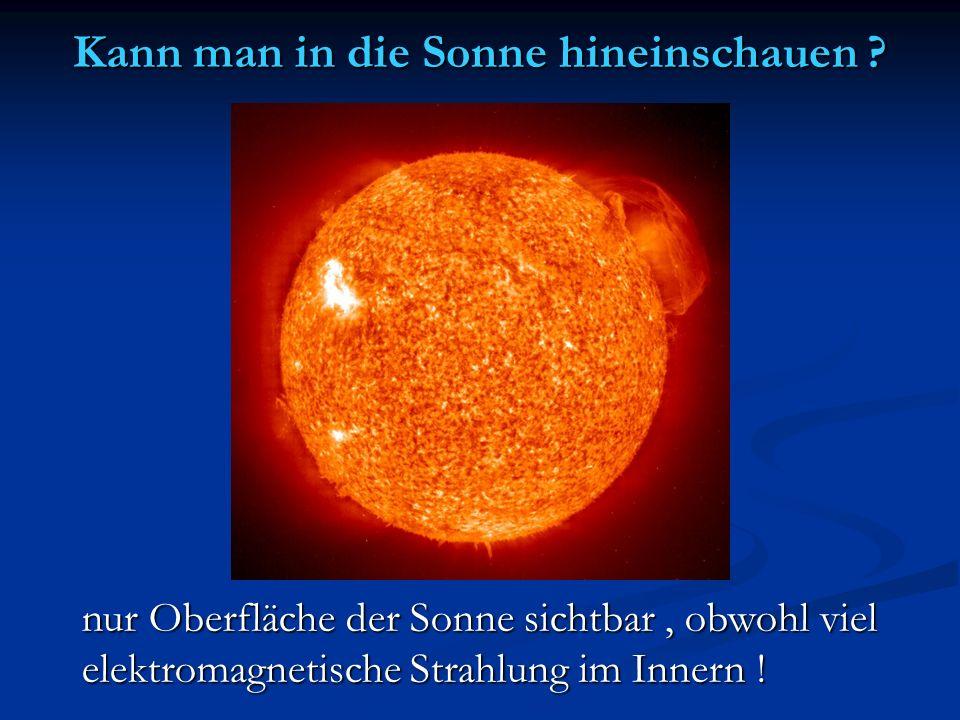 Kann man in die Sonne hineinschauen