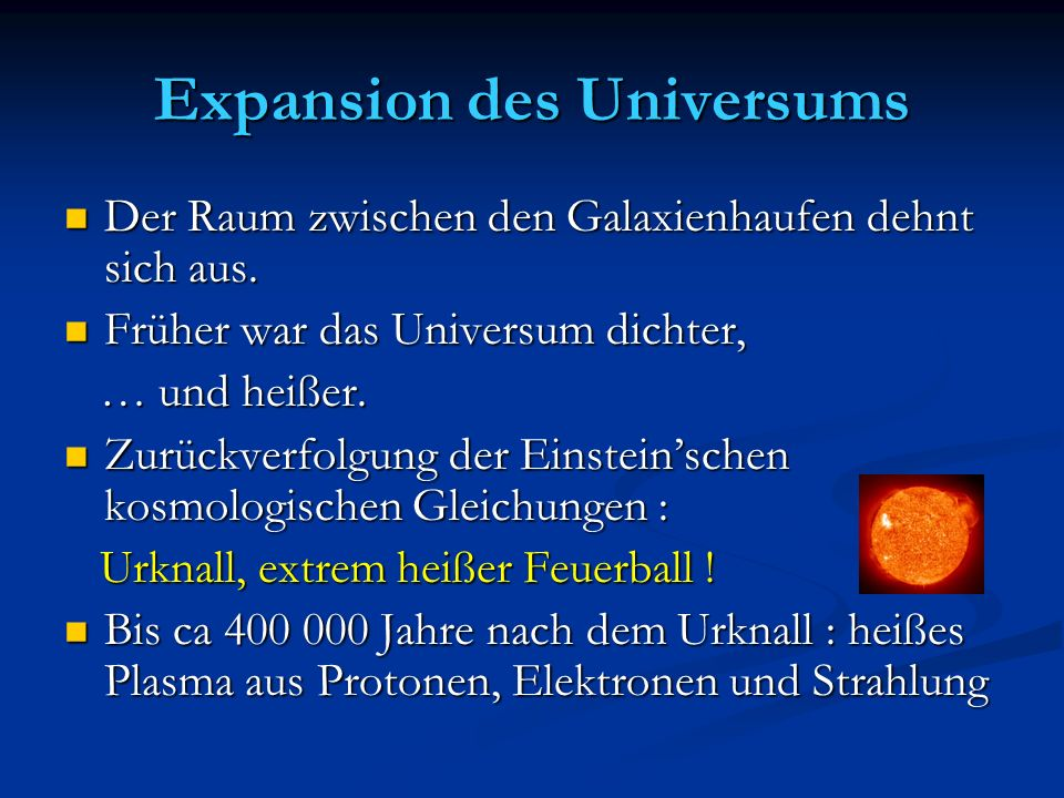 Expansion des Universums
