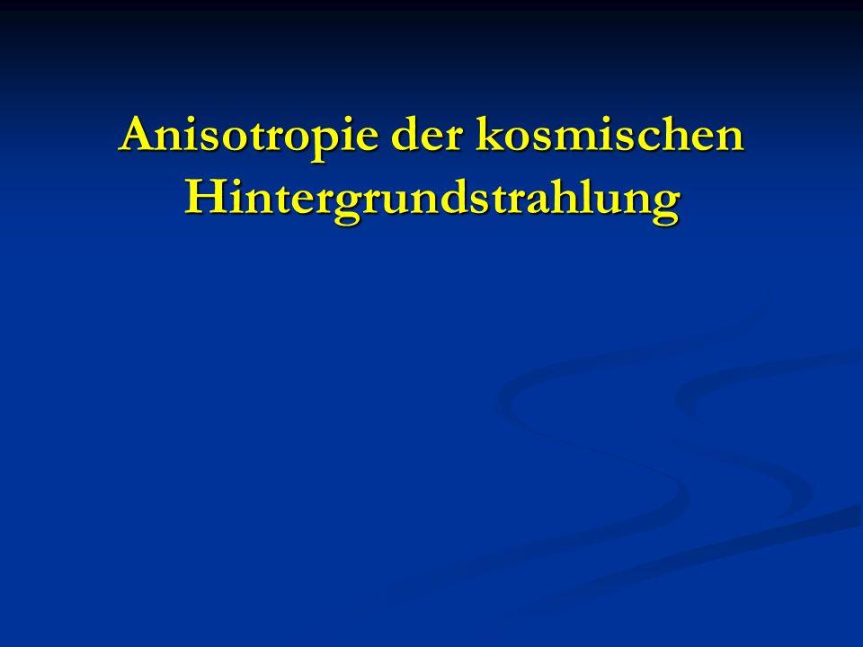 Anisotropie der kosmischen Hintergrundstrahlung