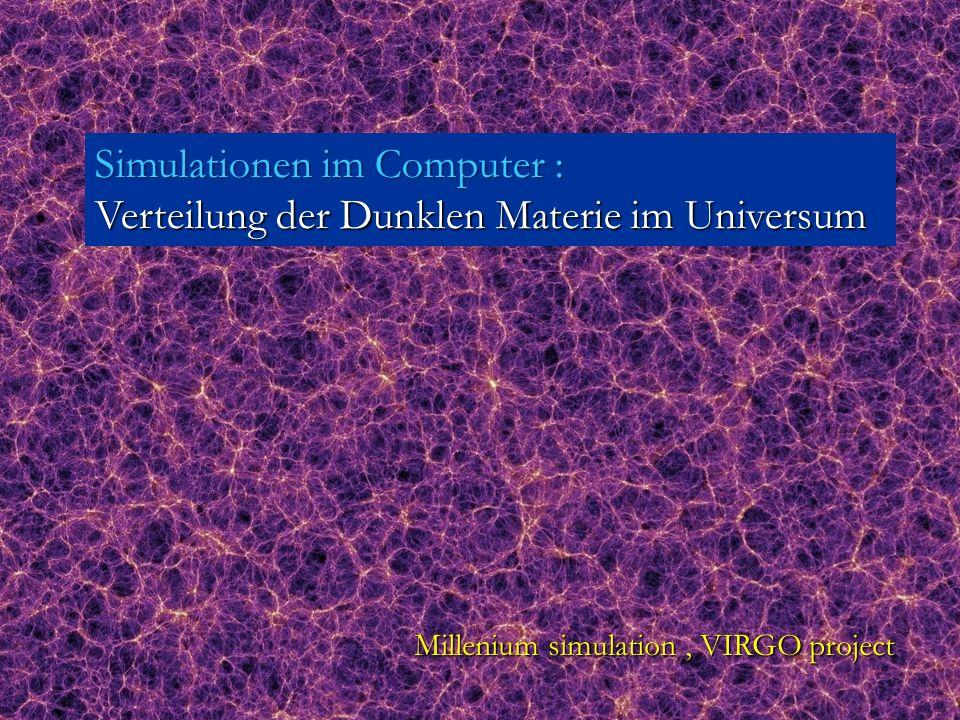 Simulationen im Computer : Verteilung der Dunklen Materie im Universum
