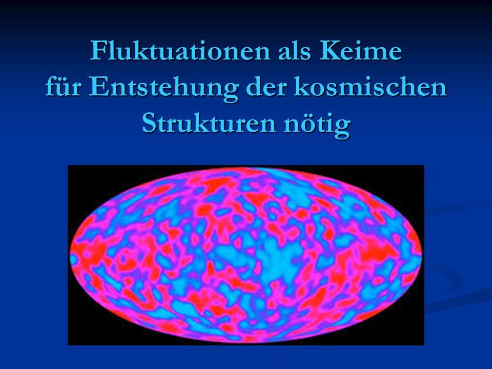 Fluktuationen als Keime für Entstehung der kosmischen Strukturen nötig