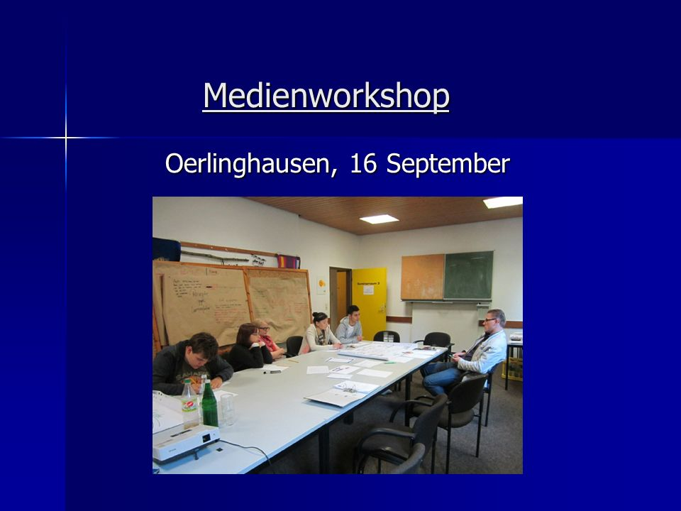 Medienworkshop Oerlinghausen, 16 September
