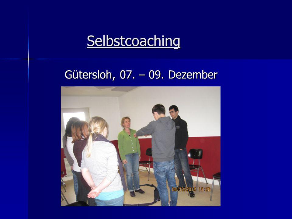 Selbstcoaching Gütersloh, 07. – 09. Dezember