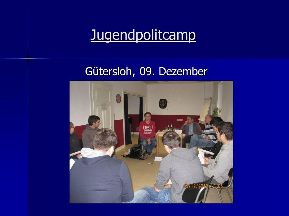 Jugendpolitcamp Gütersloh, 09. Dezember