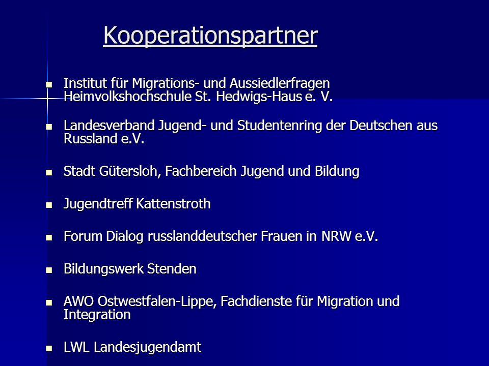 Kooperationspartner Institut für Migrations- und Aussiedlerfragen Heimvolkshochschule St. Hedwigs-Haus e. V.