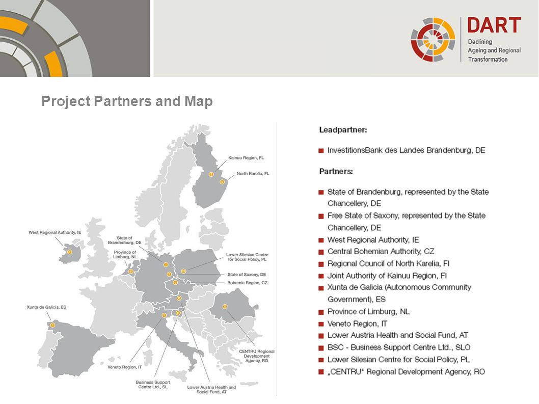 Project Partners and Map