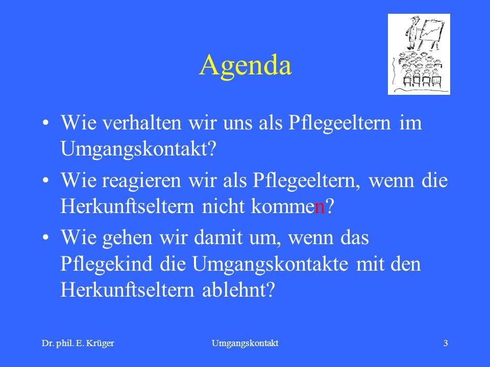 Agenda Wie verhalten wir uns als Pflegeeltern im Umgangskontakt