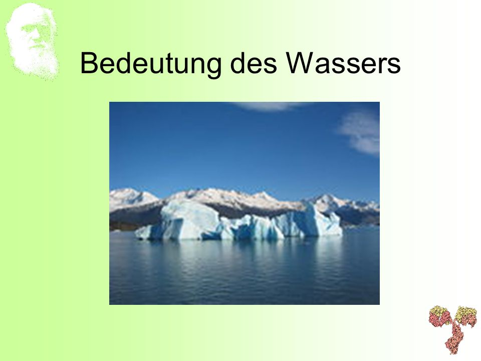Bedeutung des Wassers