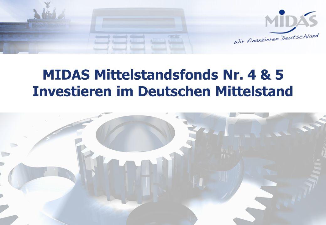 MIDAS Mittelstandsfonds Nr. 4 & 5 Investieren im Deutschen Mittelstand