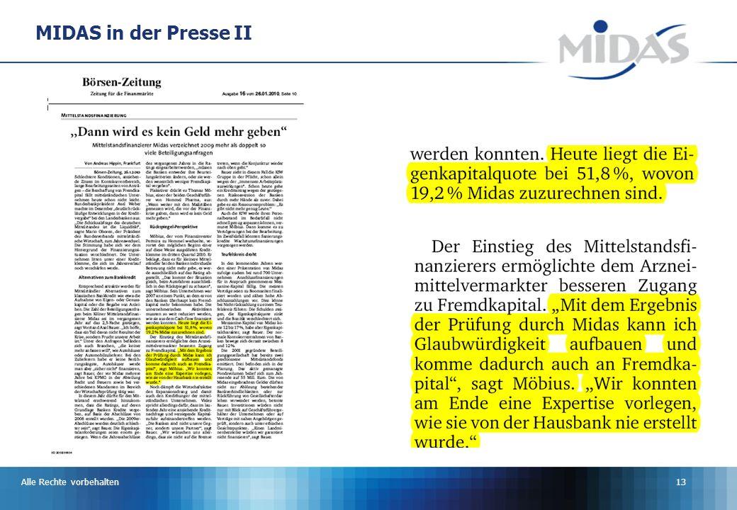MIDAS in der Presse II Alle Rechte vorbehalten