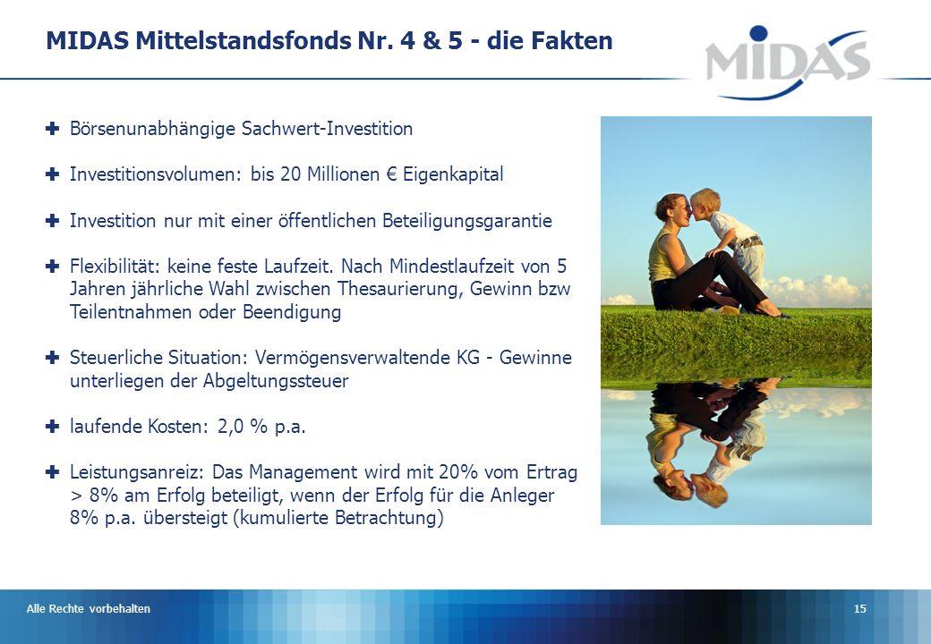 MIDAS Mittelstandsfonds Nr. 4 & 5 - die Fakten