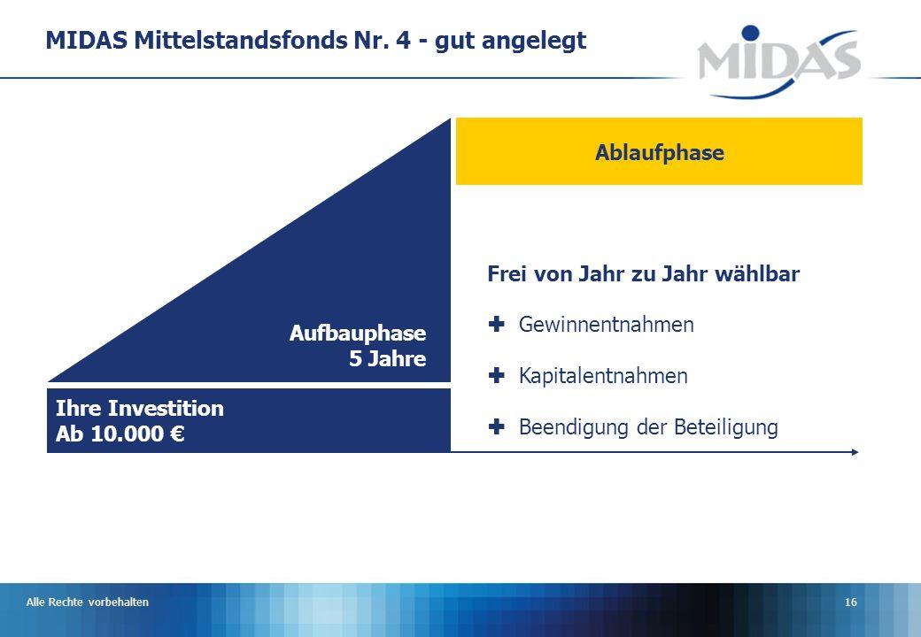 MIDAS Mittelstandsfonds Nr. 4 - gut angelegt