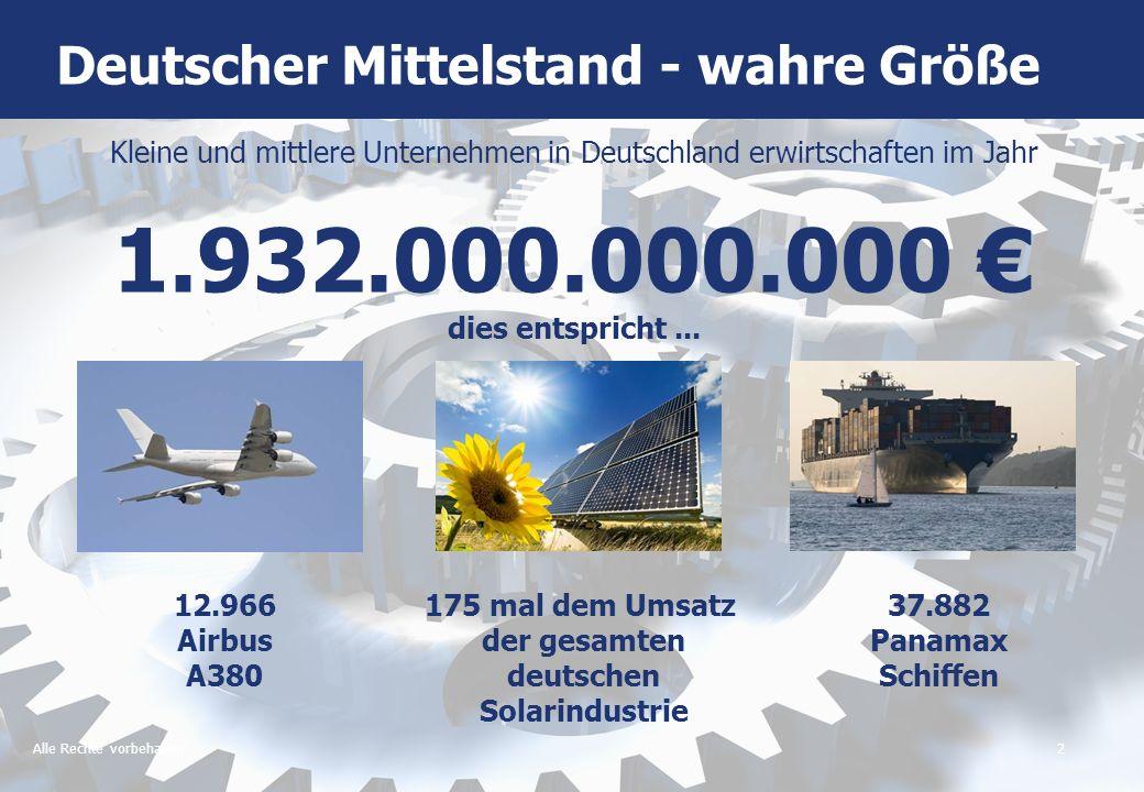 Deutscher Mittelstand - wahre Größe