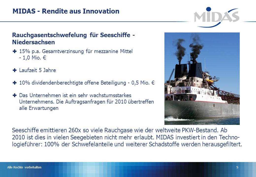 MIDAS - Rendite aus Innovation