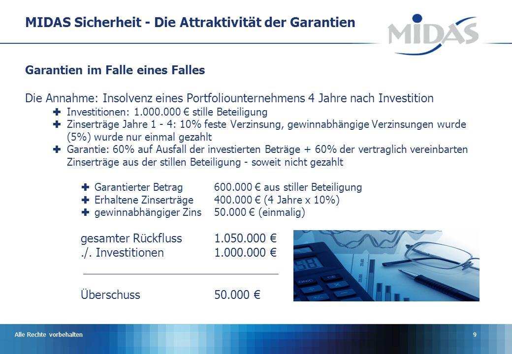 MIDAS Sicherheit - Die Attraktivität der Garantien
