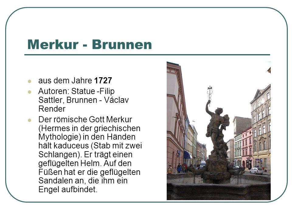 Merkur - Brunnen aus dem Jahre 1727